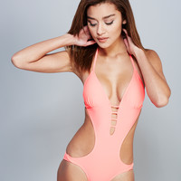 Open Back Strappy Monokini | Wet Seal