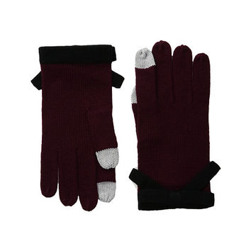 Kate Spade New York Contrast Bow Gloves