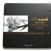 JetPens.com - Uni Mitsubishi Hi-Uni Pencil Art Set - 10B to 10H - Box of 22