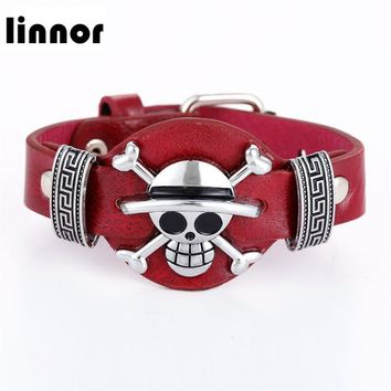 Cool Attack on Titan Linnor 3 Styles Anime Leather Bracelet  Naruto One Piece Naruto Braclet Friendship Bangle Bracelet   AT_90_11