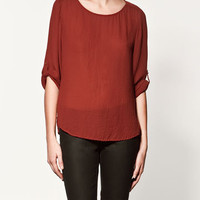 BOAT NECK BLOUSE - Collection - Shirts - Collection - Woman - ZARA United States