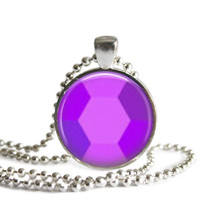 Steven Universe Amethyst Gem 1 Inch Silver Plated Picture Pendant 24 Inch Necklace