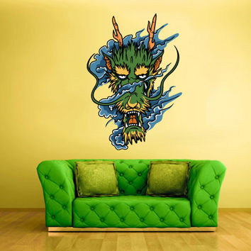Full Color Wall Decal Mural Sticker Art Asian Japaneese Japan Dragon Ethnic (col199)
