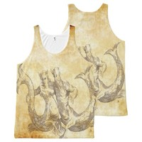 2 tritons in love All-Over-Print tank top