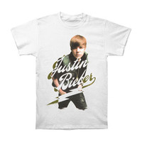 Justin Bieber Men's  My World Tour T-shirt White
