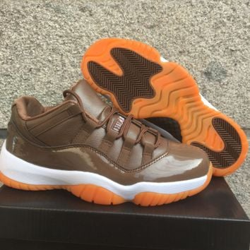 "Air Jordan 11 Retro Low AJ 11 ""Chocolate"" Basketball Shoes"