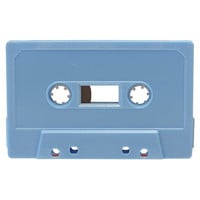 Baby blue blank audio cassette tapes - Retro Style Media