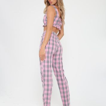 Buy Our Clueless Pant in Pink Plaid Online Today! - Tiger Mist