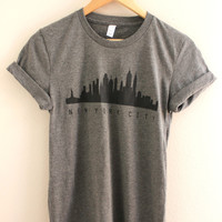 New York City Skyline Gray Graphic Unisex Tee