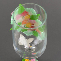 Decorated wine glasses 200 ml wedding decor handmade champagne flutes cool gifts
