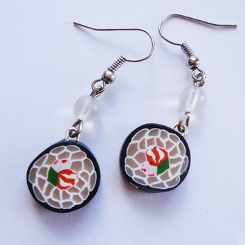 Sushi EARRINGS v2 by FrozenNote on Etsy