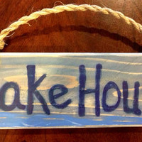 Lake House Indoor Wood Wall Decor by Sunchickie Arts