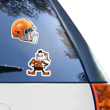 Cleveland Browns WinCraft 2-Pack 4 x 4 Decals