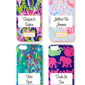 Lilly Pulitzer Monogrammed Phone Cases iPhone 5/5S (with or without monogram)