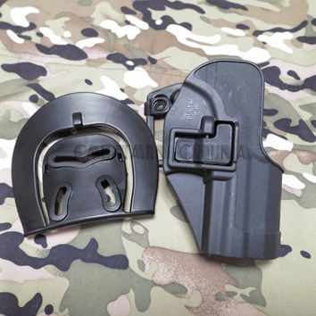 Black Military tactical gear CQC H & K USP Compact RH Pistol Paddle Belt Holster for HK USP