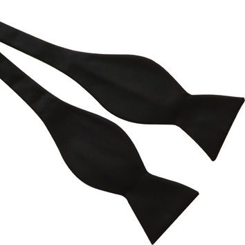Mens Black Bowtie