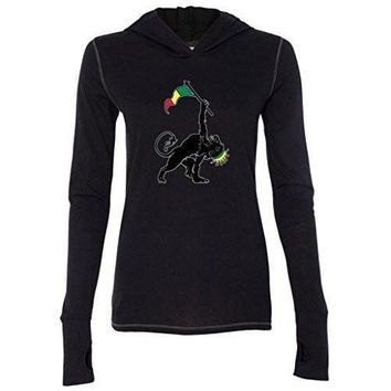 Yoga Clothing for You Womens Rasta Triangle Pose Lightweight Hoodie Tee Shirt