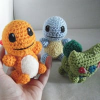Pokemon Starters Bulbasaur, Squirtle, Charmander - Choose ONE Starter Pokemon - Made To Order OOAK