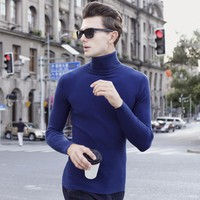 New Fashion Winter Men's Turtleneck Sweater Shirt Mens Wear On Both Side Casual Knitted Comfortable Sweater mans soild sweater