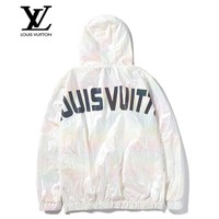 LV Louis Vuitton Fashion casual new super colorful reflective LOGO windbreaker jacket