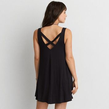 ELEGANT V-BACK DRESS