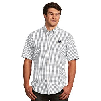 Antigua Buffalo Sabres Scholar Plaid Button-Down Shirt