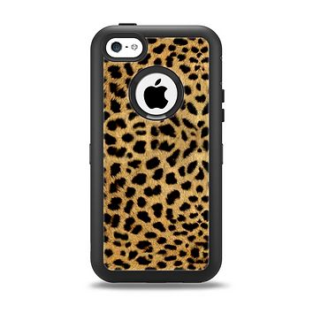 The Orange Cheetah Fur Pattern Apple iPhone 5c Otterbox Defender Case Skin Set