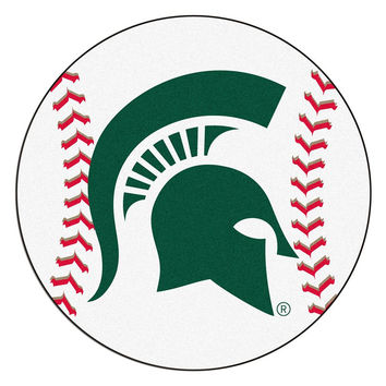 Michigan State Spartans NCAA Baseball Round Floor Mat (29)