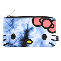 Hello Kitty Blue Tie Dye Pencil Case