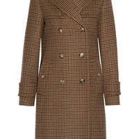 Michael Kors Collection - Double-breasted houndstooth wool coat