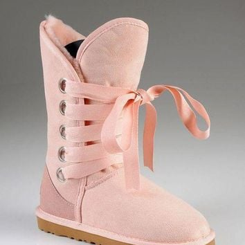 PEAP UGG: Bow tie shoes warm shoes