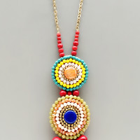 Handcrafted Multicolor Quartz Necklace