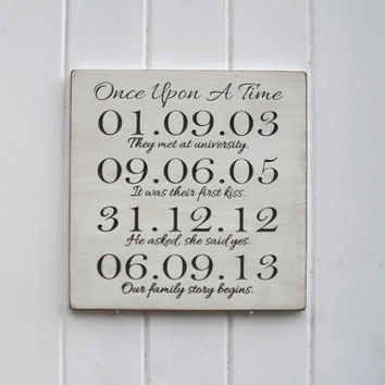 Custom Special And Important Date Carved Wood Sign