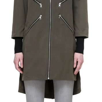SOIA & KYO - TAMMIE STRAIGHT FIT COAT WITH REMOVABLE SLEEVES IN BONSAI FOR LADIES BY SOIA & KYO