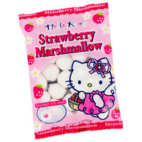 Hello Kitty Strawberry Marshmallow Candy: 25-Piece Bag