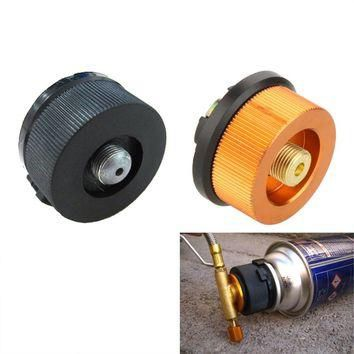 Outdoor Gas Stove Adaptor Camping Gas Tank Conversion Hiking Split Type Gas Furnace Bu