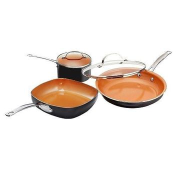 Gotham Steel Copper Back To College 5 Piece Cookware Set with Nonstick Coating!
