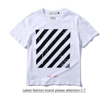 Cheap Women's and men's OFF-WHITE t shirt for sale 85902898_0193