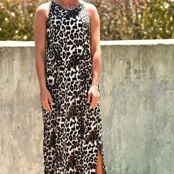 Wild Summer Days Dress - Leopard