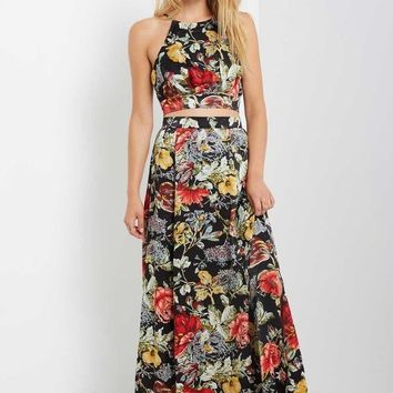 Marge Floral Side Slit Maxi Skirt