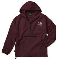 Alpha Phi Pack-N-Go Pullover (silver embroidery)