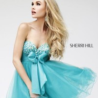 Sherri Hill Short Dress 21190 at Peaches Boutique