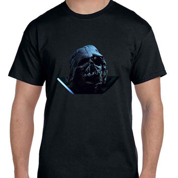 Star Wars The Force Awakens Darth Vader Broken Helmet Photo  Mens T Shirt