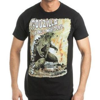 Godzilla King of Monsters Explosion Toho Adult T-shirt - Grey