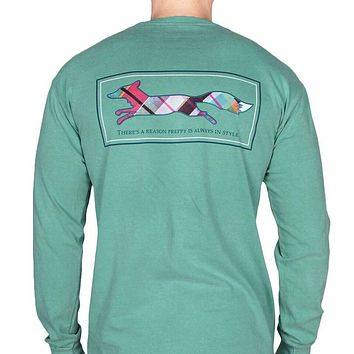 Longshanks Long Sleeve Tee Shirt in Seafoam by Country Club Prep