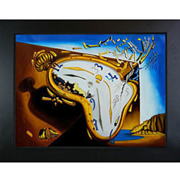 Salvador Dali 'Soft Watch at the Moment of Explosion' Framed Canvas Art