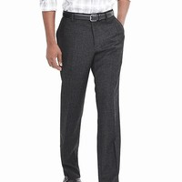Banana Republic Mens Classic Fit Charcoal Flannel Dress Pant