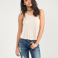 Racerback Cami Swing Top - Oatmeal