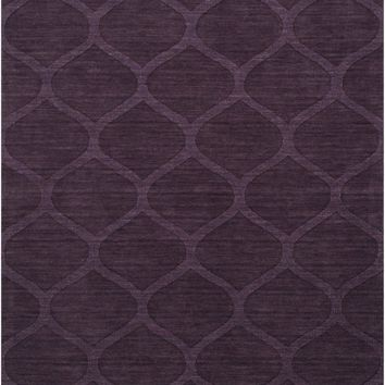 Mystique Solids and Borders Area Rug Purple