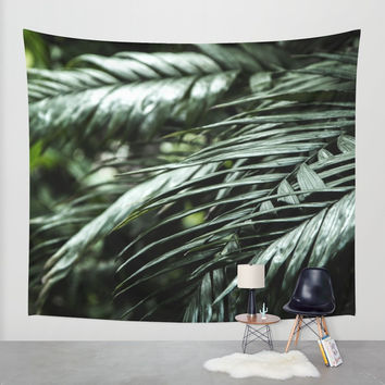 Tropical leaves 03 Wall Tapestry by VanessaGF